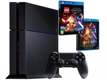 CONSOLA PS4 1TB + LEGO STAR WARS + PELICULA BLU-RAY STAR WARS EL DESPERTADOR DE LA FUERZA 9821250 SONY
