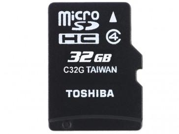 MICRO SDHC 32GB CLASE 4 + ADAPTADOR (THN-M102K0320M2) TOSHIBA
