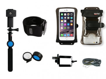 "KIT SELFIE WATERPROOF + BT + BRAZALETE + FUNDA HASTA 5.7"" DPSA-C2 DICAPAC"