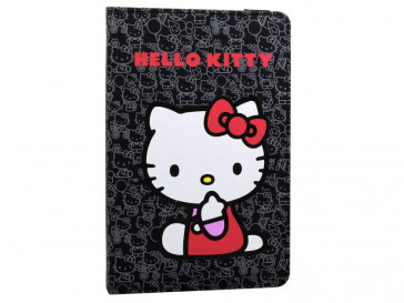 "FUNDA HELLO KITTY COVER 7"" NEGRA E-VITTA"