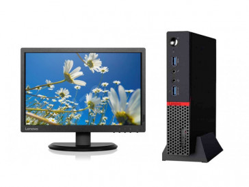 KIT THINKCENTRE M900 TINY (10FM000FSP) + MONITOR THINKVISION E2054 (60DFAAT1EU) LENOVO