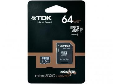 MICRO SDXC 64GB CLASE 10 + ADAPTADOR TDK