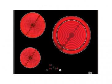 PLACA VITROCERAMICA TEKA 1TR-621 60CM 3 ZONAS DE COCCION MARCO BISELADO