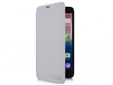 FUNDA FLIP COVER POP 3(5.5) PLATA ALCATEL