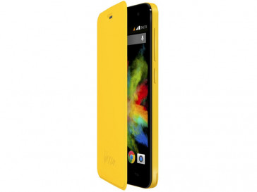 FUNDA CON TAPA BLOOM AMARILLO 103253 WIKO