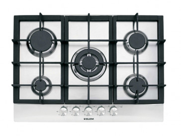 PLACA DE COCINA VITROKITCHEN EN72IN GAS NATURAL 70CM 5 QUEMADORES