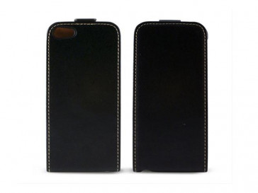 FUNDA PIEL VERTICAL CON TAPA IPHONE 5 (B) KSIX