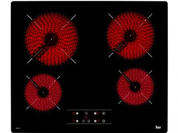 PLACA VITROCERAMICA TEKA TB-6415 60CM 4 ZONAS DE COCCION SIN MARCO
