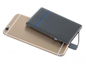 BATERIA AUXILIAR 5000MAH CABLE LIGHTNING + MICRO USB GRIS BXBA5000IP KSIX