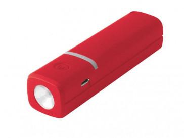 POWERBANK 2600MAH + CABLE MICRO USB ROJO BXBA2600URJ KISX