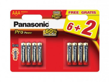 PACK 6+2 PILAS PROPOWER LR03 (AAA) PANASONIC