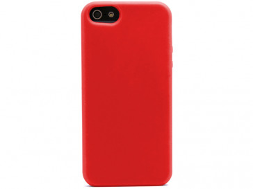 FUNDA SILICONA IPHONE 5 ROJA