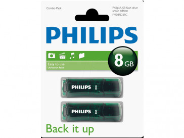 PACK 2 URBAN 2.0 8GB (FM08FD35C) PHILIPS