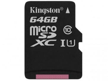 MICRO SDXC 64GB CLASE 10 UHS-I (SDC10G2/64GBSP) KINGSTON