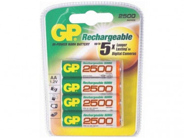 PILAS RECARGABLES AA G142 2500MAH 4 UDS GP