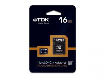 MICRO SDHC 16GB CLASE 10 + ADAPTADOR TDK
