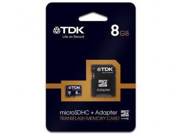 MICRO SDHC 8GB CLASE 10 + ADAPTADOR TDK