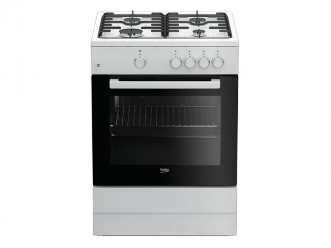 Beko cocina beko 4 quemadores encimera y horno a gas for Quemadores de cocina de gas butano
