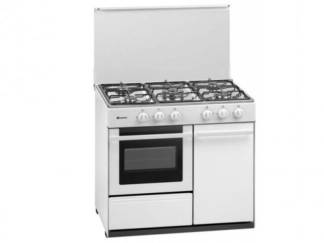 Meireles cocina meireles 5 quemadores encimera y horno a for Cocinas de gas butano sin horno