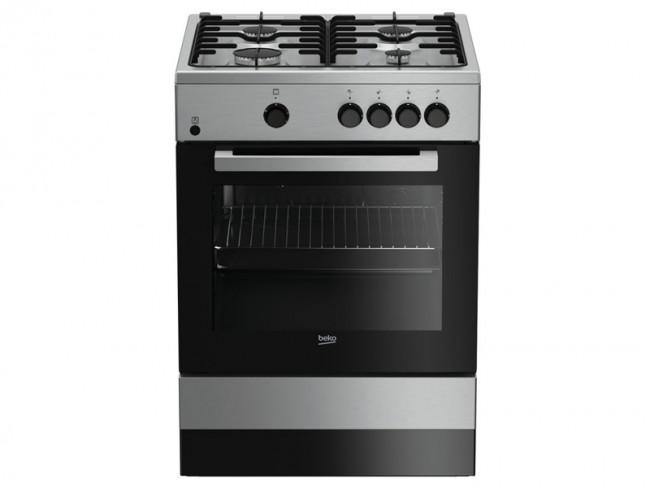 Beko cocina beko 4 quemadores encimera y horno a gas for Cocina de butano sin horno