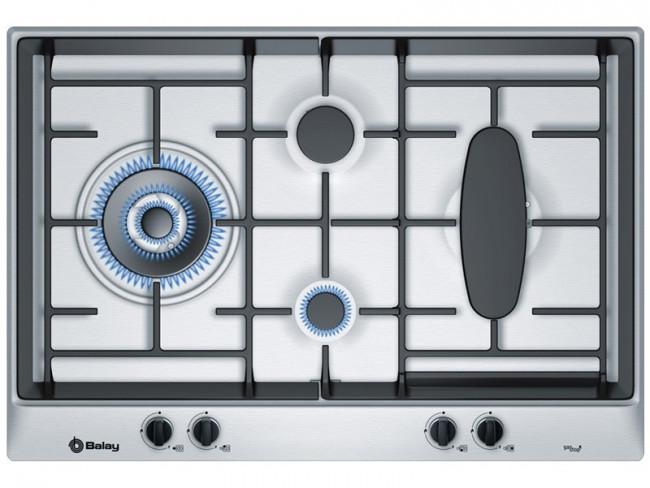 Balay placa de cocina balay 3etg 391bp gas butano 75cm 4 for Quemadores de cocina de gas butano