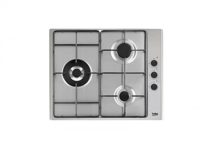 Beko placa de cocina beko hizg 63123 sxl 60cm 3 quemadores - Placa de cocina ...