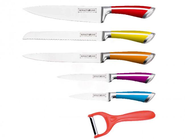 royalty line juego 6 piezas cuchillos pelador acero