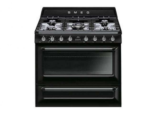 Smeg cocina smeg 5 quemadores encimera a gas natural y for Cocina y horno electrico