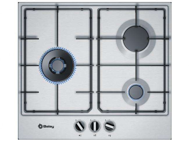 Balay placa de cocina balay 3etx663mn gas natural 60cm 3 - Placas de cocina de gas ...