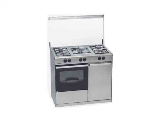 Rommer cocina rommer 5 quemadores encimera y horno a gas for Cocinas de gas butano sin horno