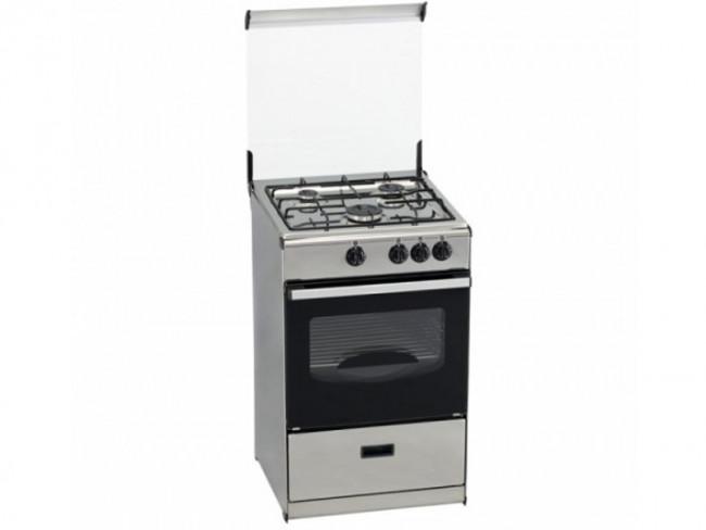 Tensai cocina tensai 3 quemadores encimera y horno a gas for Cocinas de gas butano sin horno