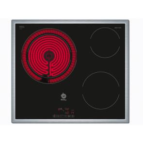 PLACA VITROCERAMICA BALAY 3EB715XR 60CM 3 ZONAS DE COCCION MARCO INOX