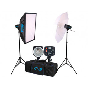 KIT FLASH ESTUDIO BASIC 2X160W FTF-160 FOTIMA