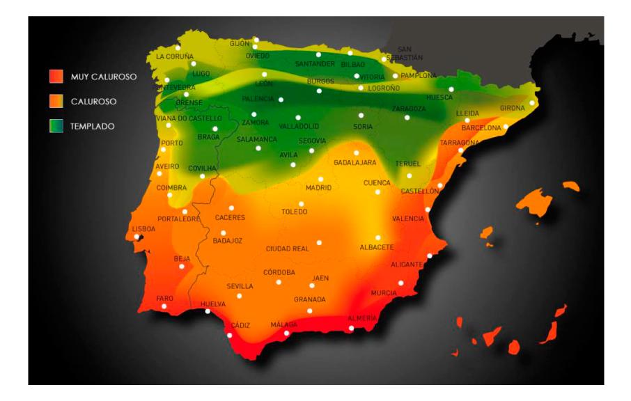 mapa termico españa