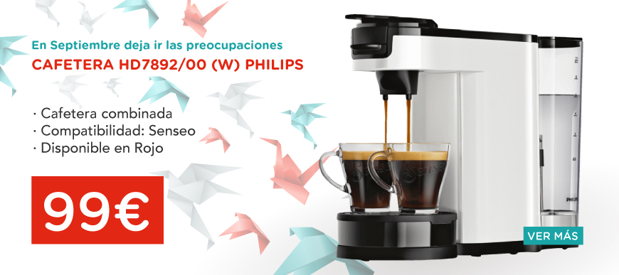 oferta cafeteras philips