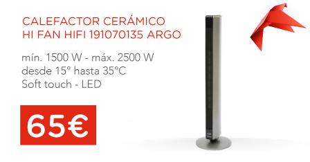 oferta calefactor argo
