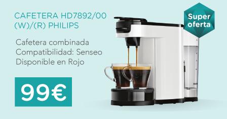 oferta cafetera philips