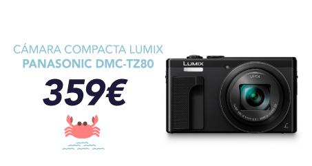 oferta cámara compacta panasonic