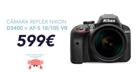 oferta cámara reflex nikon