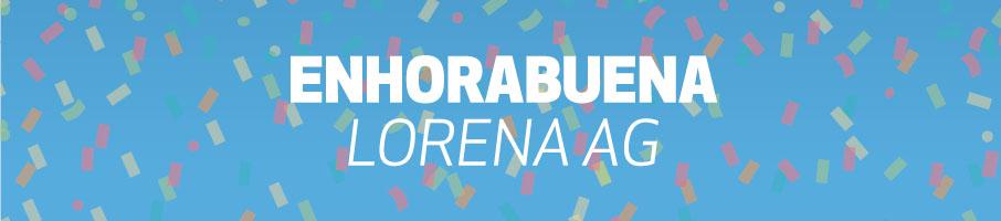 Enhorabuena a Lorena AG