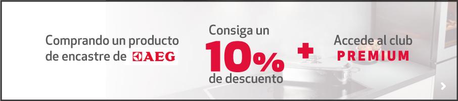 Promocion productos encastre aeg 10% descuento
