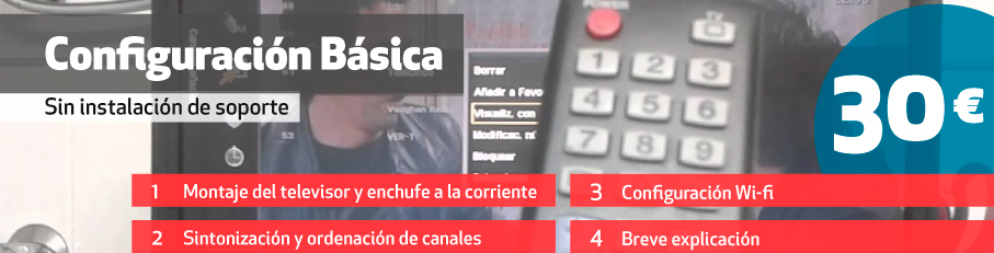Configuración básica smart tv