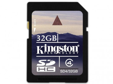 SDHC 32GB CLASE 4 SD4/32GB KINGSTON