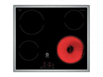 PLACA VITROCERAMICA BALAY 3EB720XR 60CM 4 ZONAS DE COCCION MARCO INOX