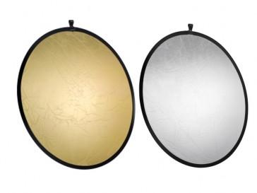 FOLDABLE REFLECTOR GOLD/SILVER 107CM 17690 WALIMEX