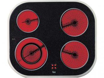 PLACA VITROCERAMICA TEKA VT N DC INOX 60CM 4 ZONAS DE COCCION MARCO INOX