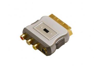 ADAPTADOR EURO- 3RCA/SVHS ORO IN/OUT 680900 TECH LINK
