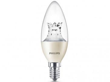BOMBILLA LED VELA REGULABLE E14 6W (40W) LUZ BLANCA CALIDA PHILIPS