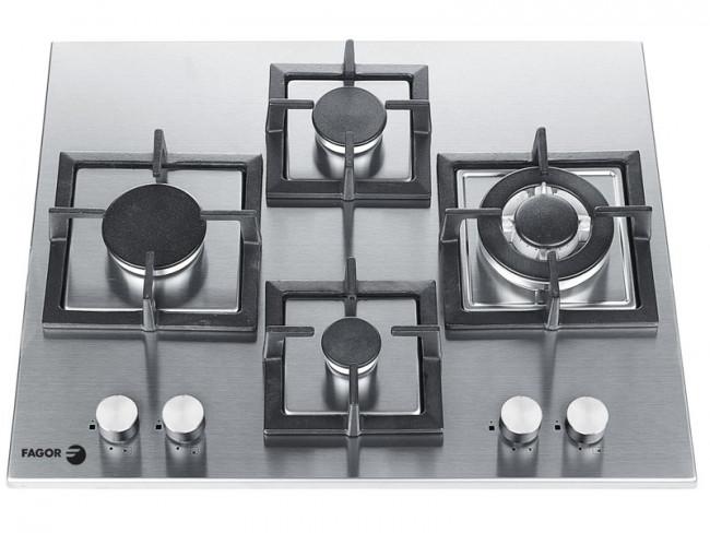 Fagor placa de cocina fagor 7fi4glsxa gas natural 62cm 4 - Placa cocina gas natural ...