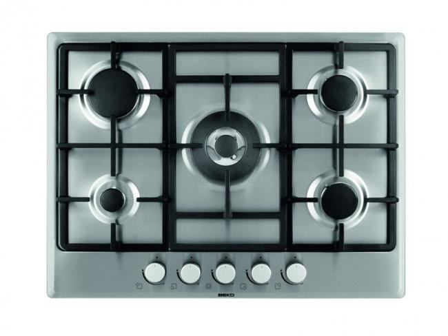 Beko placa de cocina beko himw 75225 sx gas natural butano - Placa cocina gas natural ...